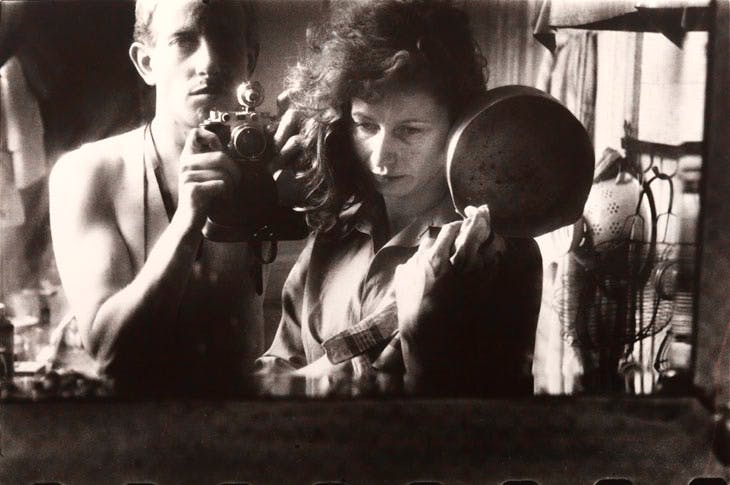 Self Portrait with Ata Kandó, Paris (1953), Ed van der Elsken