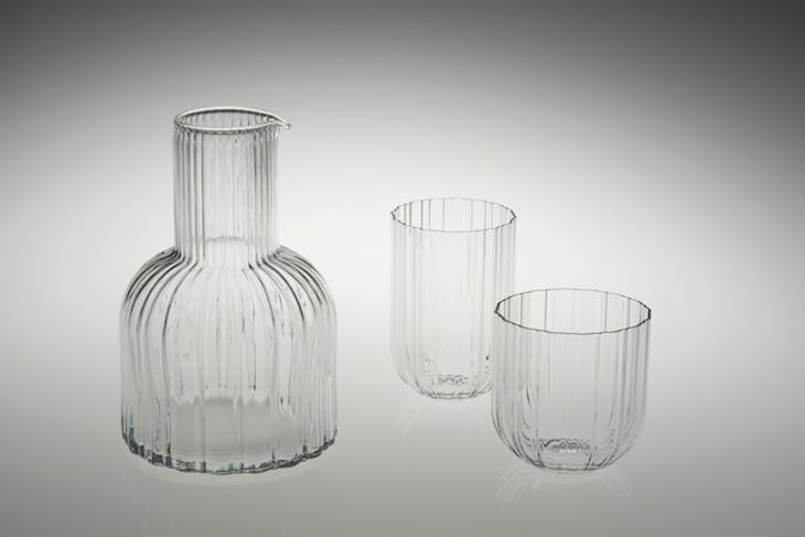 Jug and glasses for Ciga (1979), Massimo Vignelli for Venini & Co. Photo: Elizabeth Lamark