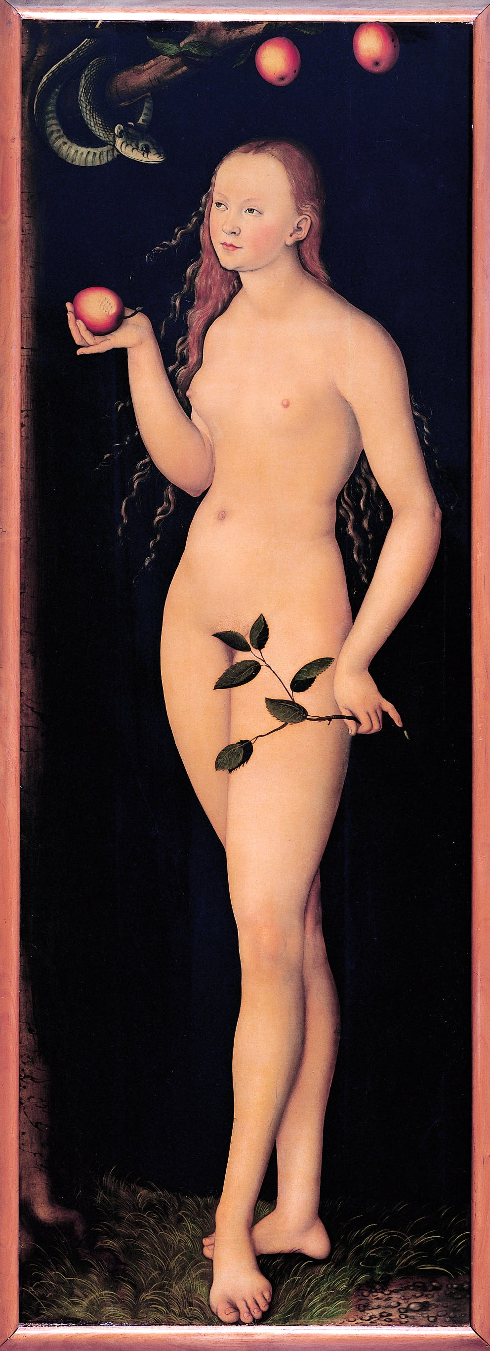 Adam and Eve (1528), Lucas Cranach the Elder. Galleria degli Uffizi, Florence