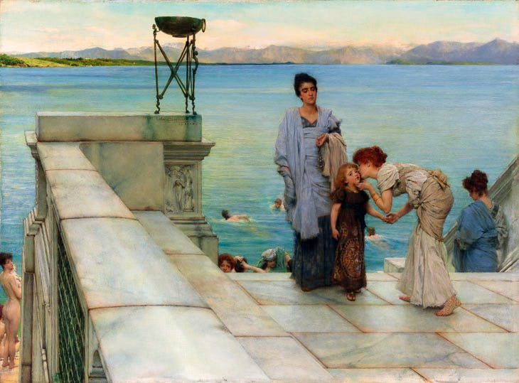 A Kiss (1891), Lawrence Alma-Tadema. Courtesy of Martin Beisley