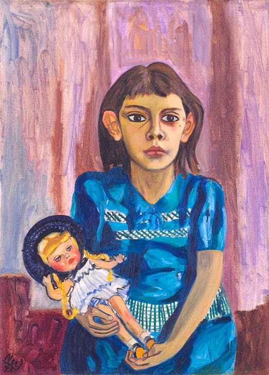 Julie and the doll (1943), Alice Neel. © The Estate of Alice Neel. Courtesy David Zwirner, New York/London and Victoria Miro, London