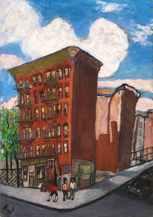 Building in Harlem (1945), Alice Neel. © The Estate of Alice Neel. Courtesy David Zwirner, New York/London and Victoria Miro, London