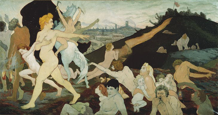 The Dawn of Labour (c. 1891), Charles Maurin. Musée d'art moderne et contemporain, Saint-Étienne Metropole, France. Photo: Yves Bresson; Musée d'art moderne et contemporain, Saint-Étienne Métropole, France