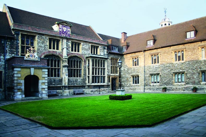 The north side of Master's Court, built in 1545-64, houses the Great Hall of the Charterhouse, Photo: © Lawrence Watson; courtesy the Charterhouse