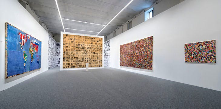 Alighiero Boetti at the Cini Foundation (installation view). Photo courtesy Matteo De Fina