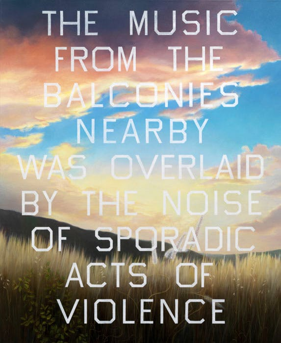 The Music from the Balconies (1984) Ed Ruscha. Scottish National Gallery of Modern Art, Edinburgh