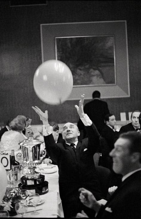 Retired gentleman at the MG Car owners Ball, Edinburgh, Scotland (1967), David Hurn. © David Hurn/MAGNUM PHOTOS