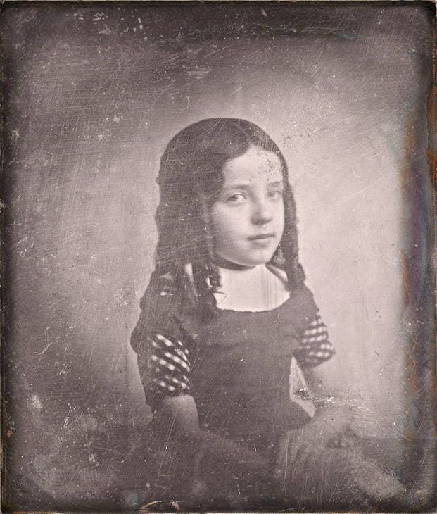 Portrait of Charlotte Asser, daughter of the photographer (1842), Eduard Isaac Asser