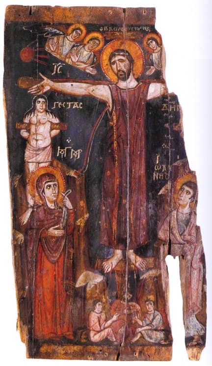 Crucifixion with the Dead Christ, 9th/10th century, Holy Monastery of Saint Catherine, Sinai, Egypt