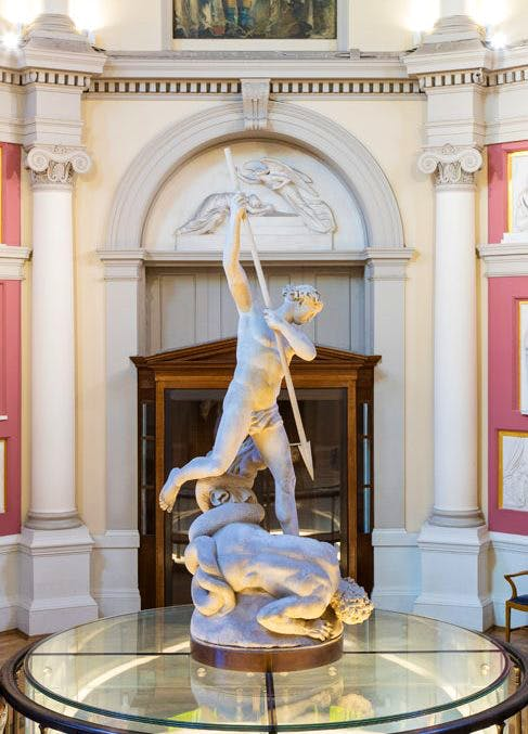 Art UK's project to digitise the nation's sculpture was annouced at UCL's Flaxman Gallery, which showcases sculptural models by the neoclassical British artist John Flaxman. Photo: UCL Art Museum © Mary Hinkley