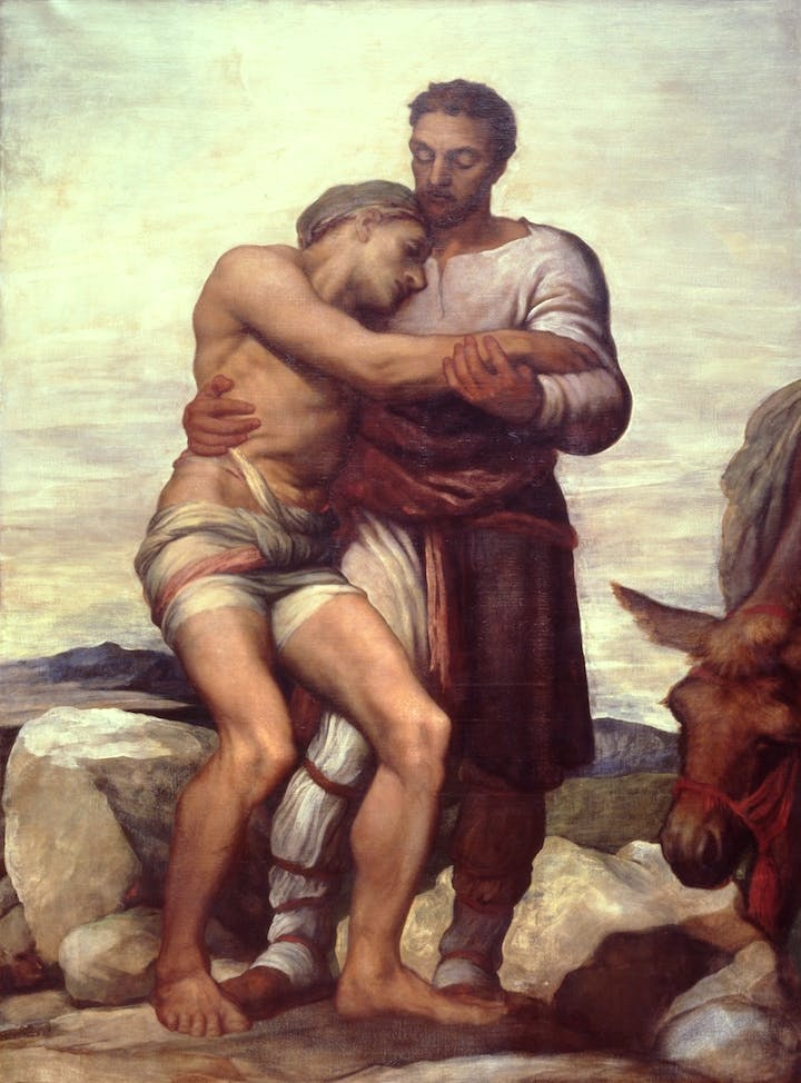 The Good Samaritan (1850) G. F. Watts. © Manchester City Galleries