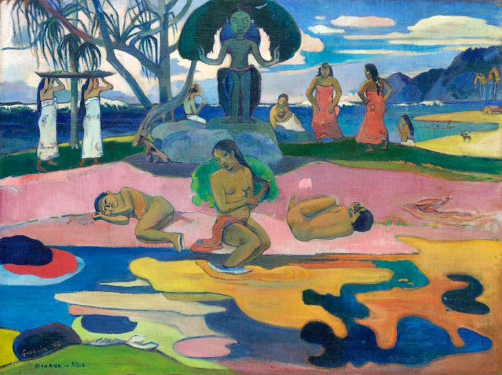 Mahana no atua (Day of the God) (1894), Paul Gauguin. The Art Institute of Chicago