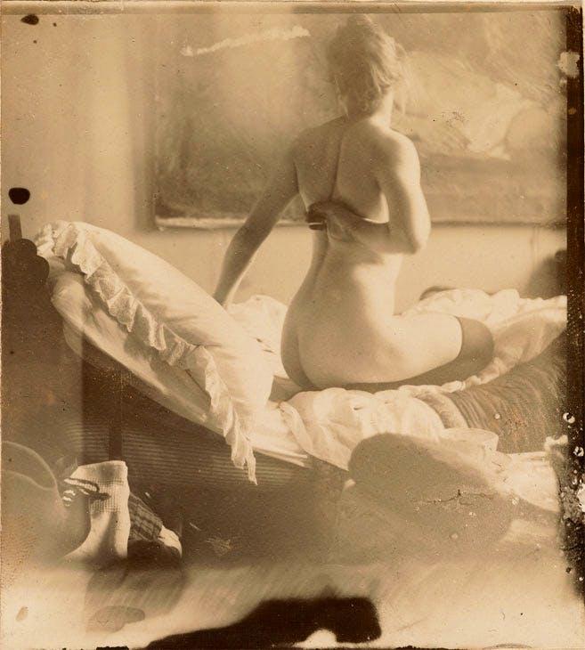 Marie Jordan nude from behind (1890), George Hendrik Breitner