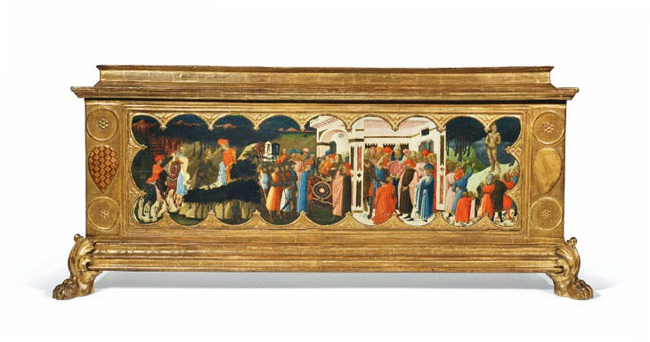 Cassone with a panel by Giovanni Toscani. Christie's London: estimate £600,000–£900,000