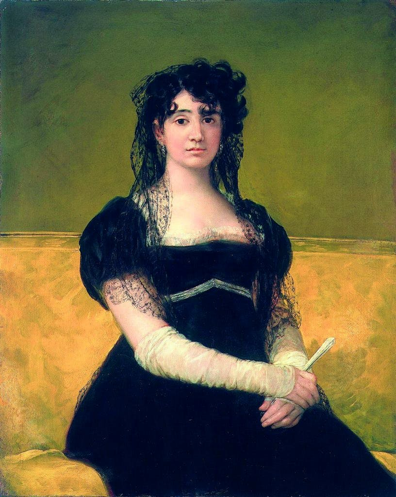 Portrait of Doña Antonia Zarate, (c. 1805), Francisco de Goya, National Gallery of Ireland