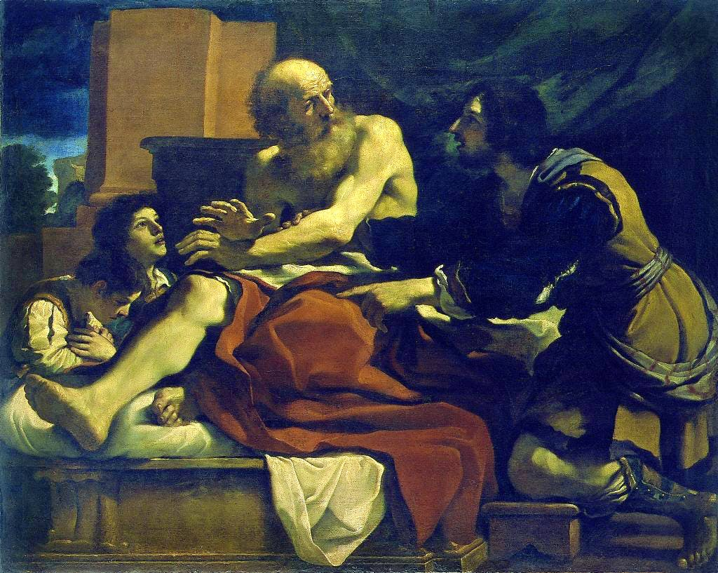 Jacob Blessing the Sons of Joseph, (c. 1620), Guercino, National Gallery of Ireland