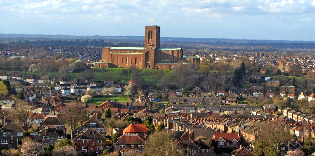 Guildford Cathedral on Stags Hill, Guildford, Surrey