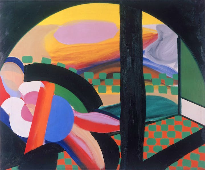 Mrs Acton in Delhi (1967-71), Howard Hodgkin. © Howard Hodgkin, Courtesy the artist and Gagosian