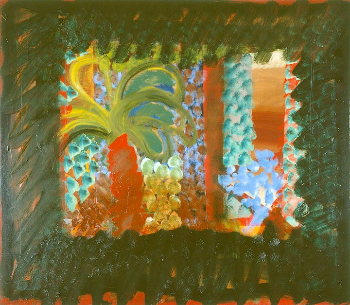 In the garden of the Bombay Museum (1978-82), Howard Hodgkin. © Howard Hodgkin, Courtesy the artist and Gagosian