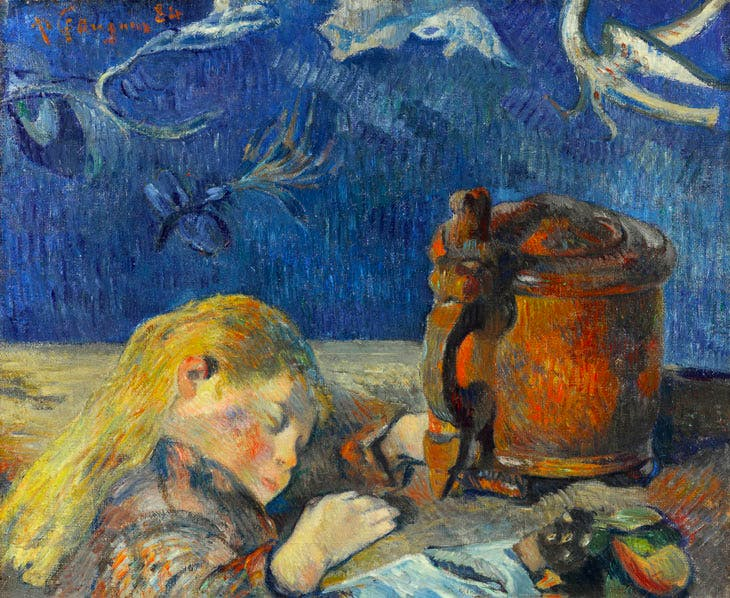 Clovis Sleeping (c. 1892), Paul Gauguin. Private collection