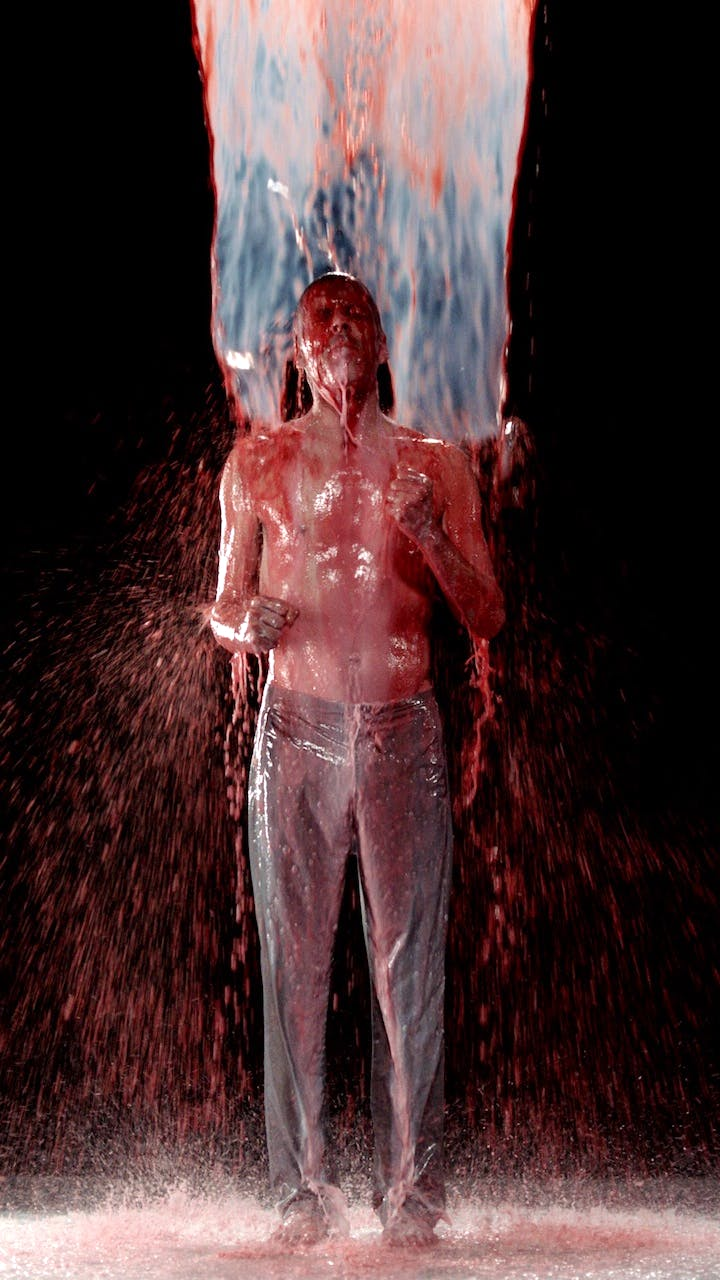 Inverted Birth (video installation; 2014), Bill Viola. © Bill Viola, Photo: Kira Perov