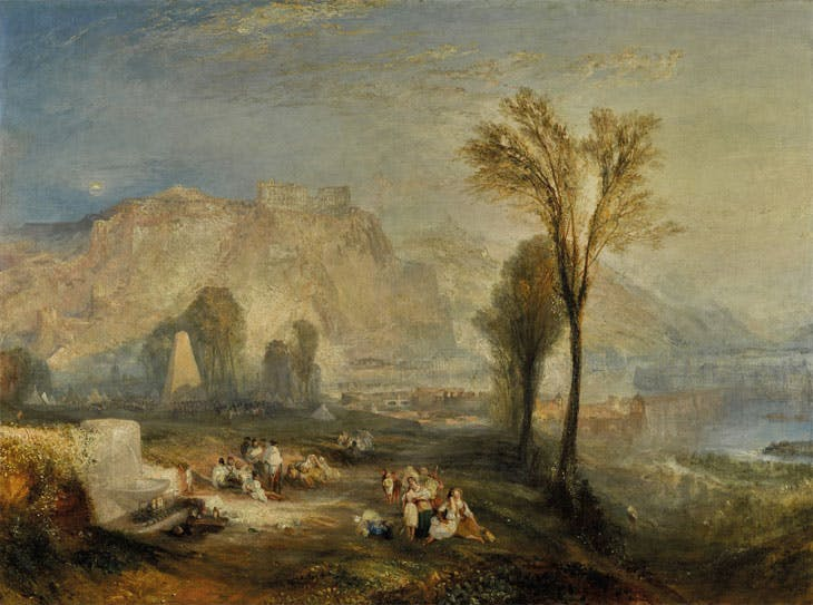 Ehrenbreitstein, or The Bright Stone of Honour and the Tomb of Marceau, from Byron's Childe Harold (1835), J.M.W. Turner. Sotheby's London: estimate £15–£25m