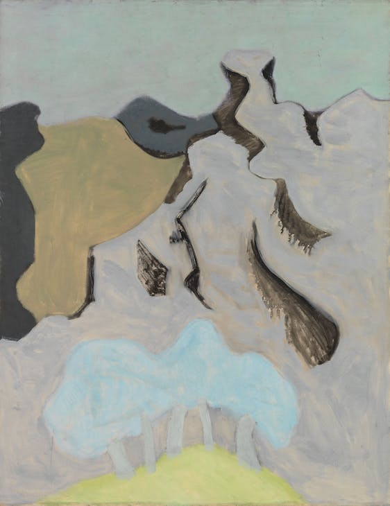 French Landscape (1953), Milton Avery. Courtesy The Milton and Sally Avery Arts Foundation and Victoria Miro, London. © The Milton and Sally Avery Arts Foundation