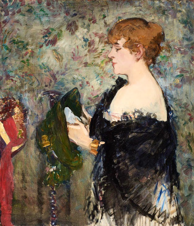 At the Milliner's (La Modiste) (1881), Édouard Manet. Image courtesy the Fine Arts Museums of San Francisco