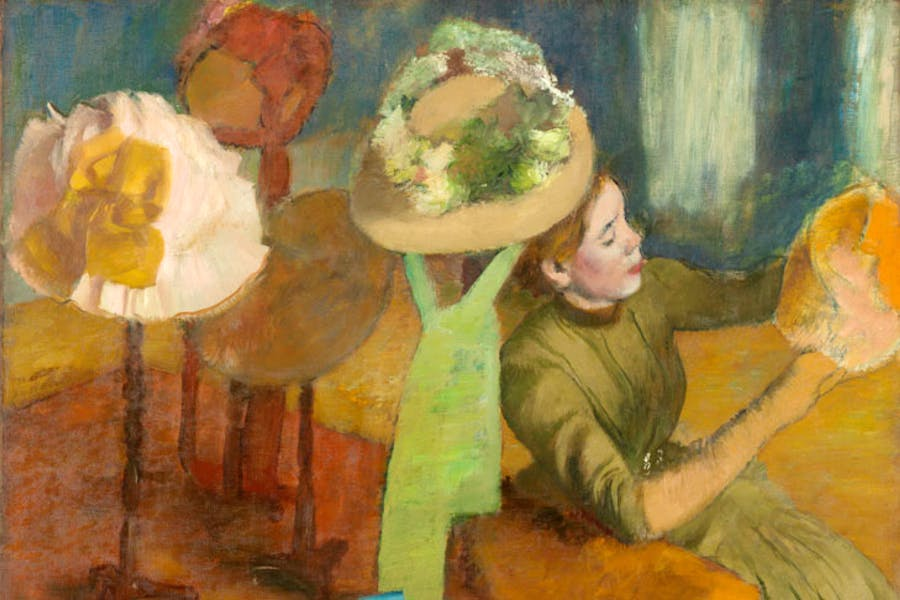 The Millinery Shop (1879–86), Edgar Degas. The Art Institute of Chicago. © Bridgeman Images. Image courtesy the Fine Arts Museums of San Francisco