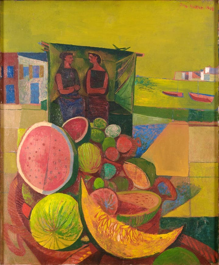 Melon Sellers, Corsica (1948), John Minton. © Royal College of Art