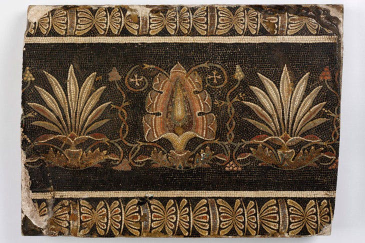 Mosaic fragment of the 'Doves of Pliny'. Photo © Victoria and Albert Museum
