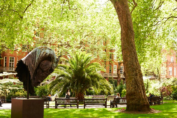 Mount Street Gardens in Mayfair. Photo: Benjamin McMahon, courtesy Mayfair Art Weekend