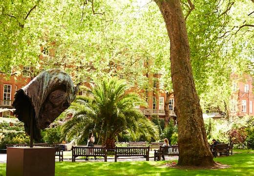 Mount Street Gardens in Mayfair. Photo: Benjamin McMahon, courtesy Mayfair Art Weekend