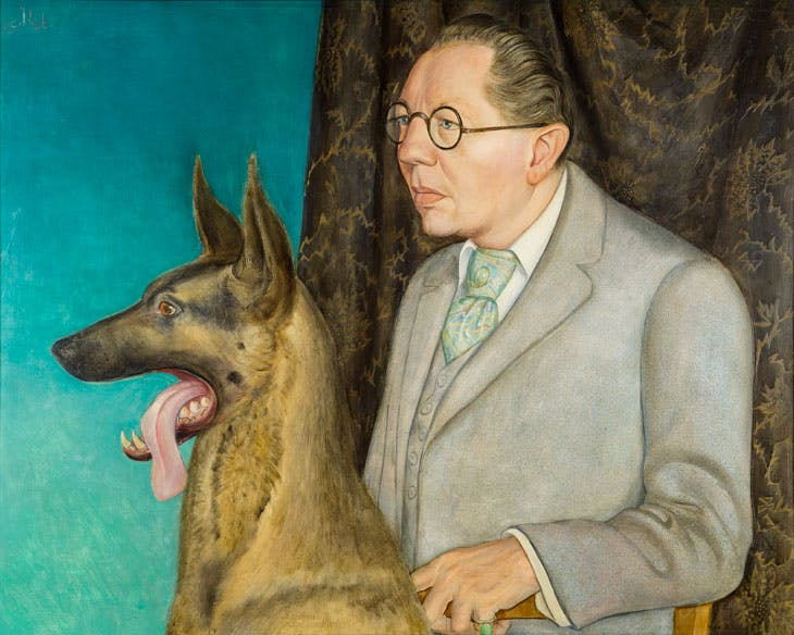 Hugo Erfurth with Dog (1926), Otto Dix. © DACS 2017. Museo Thyssen-Bornemisza, Madrid