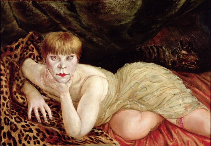 Reclining Woman on a Leopard Skin (1927), Otto Dix. © DACS 2017. Collection of the Herbert F. Johnson Museum of Art, Cornell University.