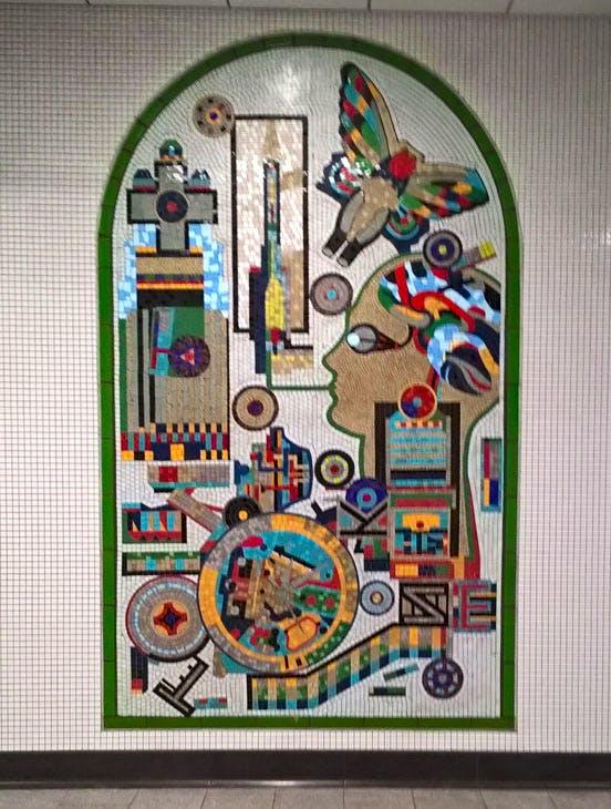 One of Paolozzi's mosaics at Tottenham Court Road. Photo: courtesy the author