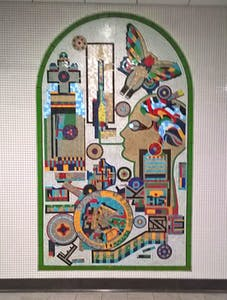One of Paolozzi's mosaics at Tottenham Court Road. Photo: courtesy the author
