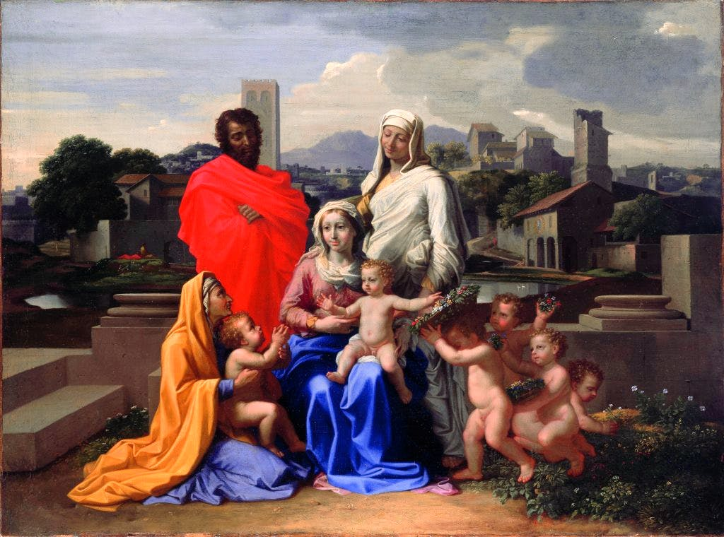 The Holy Family, with Saints Anne, Elizabeth and John the Baptist, (1649), Nicolas Poussin, National Gallery of Ireland