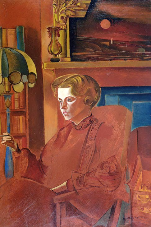 Red Portrait (Froanna) (1937), Wyndham Lewis. Private collection. © The Wyndham Lewis Memorial Trust / Bridgeman Images. Photo Crane Kalman Gallery, London, UK