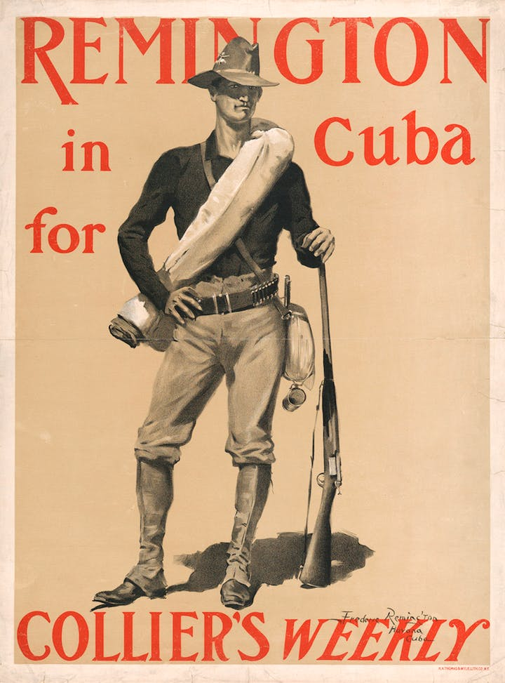 Remington in Cuba for Collier's Weekly magazine in 1899. The Metropolitan Museum of Art