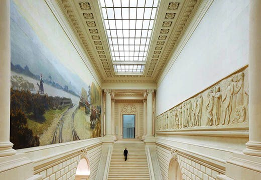 Main staircases in the 19th-century Palais of the Musée d'arts de Nantes, photo: © Hufton + Crow