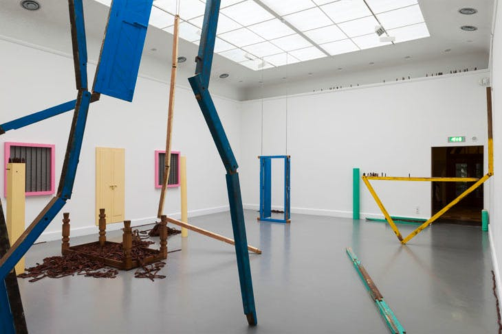 Of all people (2011), Sheela Gowda. Installation view at Van Abbemuseum, Eindhoven, 2013. Photo: Peter Cox. Courtesy the artist and Lund Kunstall