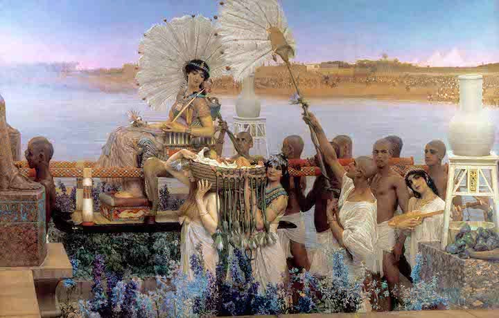 The Finding of Moses (1904), Sir Lawrence Alma-Tadema. © Private Collection