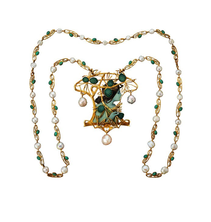 Necklace (c. 1899–1900), René Lalique. Wartski at Masterpiece London