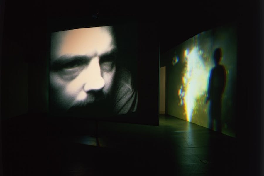 Slowly Turning Narrative (video installation; 1992), Bill Viola. © Bill Viola, Photo: Gary McKinnis
