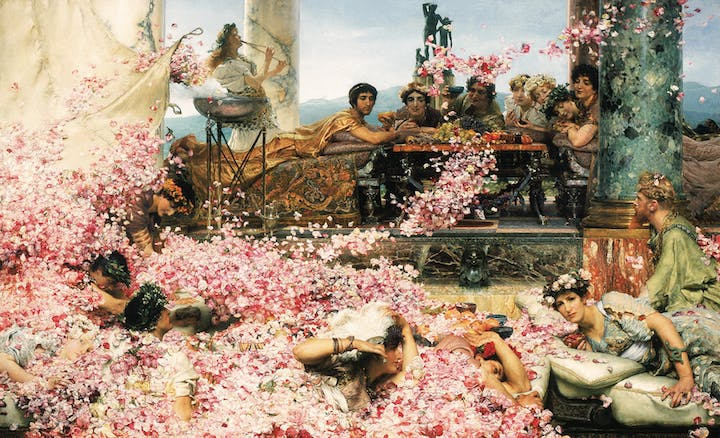 The Roses of Heliogabalus (1888), Sir Lawrence Alma-Tadema. © Perez Simon Collection