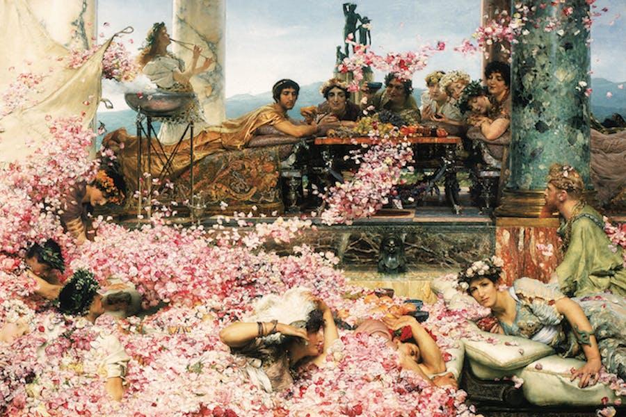 The Roses of Heliogabalus (1888), Sir Lawrence Alma-Tadema. © Perez Simon Collection