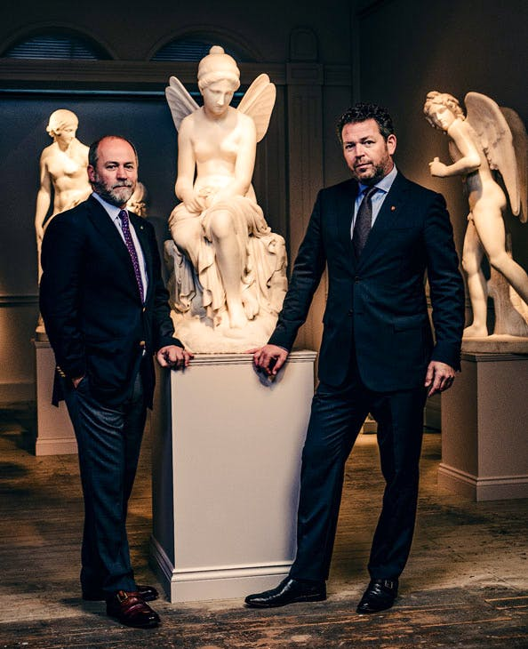 Dino and Raffaello Tomasso, directors, Tomasso Brothers Fine Art, at their new premises at 67 Jermyn St (June 2017)