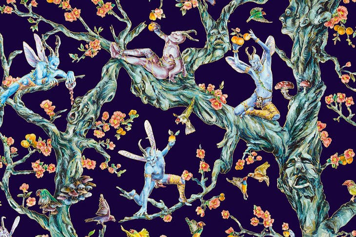 After A Midsummer Night's Dream (detail), by Raqib Shaw. © Raqib Shaw and the Whitworth, the University of Manchester
