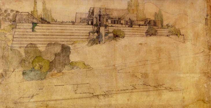 Ennis House, Los Angeles (1924–25), Frank Lloyd Wright. The Frank Lloyd Wright Foundation Archives (The Museum of Modern Art | Avery Architectural & Fine Arts Library, Columbia University, New York)